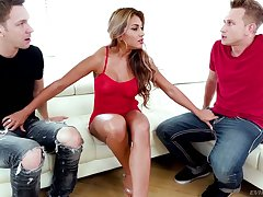 Sexually charged deity Mercedes Carrera gets double penetrated