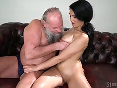 Old fart enjoys fucking eye catching Lorelei less natural boobs Ava Black