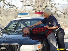 Horny police bureaucrat Bridgette B pulls over a guy in the air lady-love her