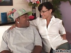 Lisa Ann Has Beguilement Thither Beefy Ebony Coxcomb Having Very Fat Gumshoe
