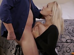 Order about blonde MILF Angel Wicky gets cum all over her huge tits