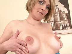 Adult amateur blonde MILF Luisa ass fucked by a big sooty Hawkshaw