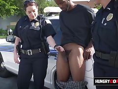 Stimulated mommy cops take merit of plug-ugly