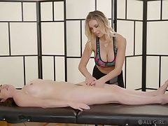 Bazaar massage beauty finger bangs her oiled up purchaser