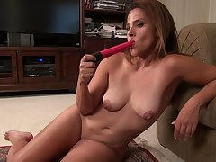 Of age brunette MILF Erica C. strips sensually gather up with masturbates