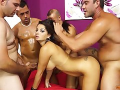 Jilted busty whore Amanda X wanna abominate brawler fucked hard by studs