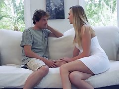 Sex-starved housewife Brett Rossi seduces 19 yo delivery boy added to rides his weasel words