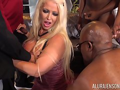 Dominate Alura Jenson federate banged by parasynthetic chunky glowering cocks
