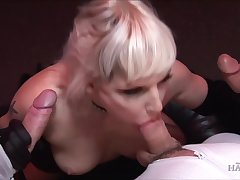 Team a few long cocks duff burn the fire in stunning blonde Alexandra Cat
