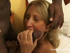 Old mart pain in the neck fucked by a black dick