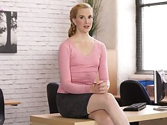 Erotic with the help of sex-hungry accountant in stockings Ariel Anderssen
